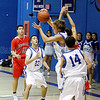 Boys b-ball: Bernalillo-St. Michael's at Perez-Shelly Gymnasium on Tuesday, December 14, 2010. St. Mikes up 55-47 the last two minutes of their game.<br /> Photos by Jane Phillips/The New Mexican