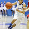 St.  Michael's Wesley Vaughn,24 drives the ball down court during the third quarter of their game against Bernalillo at Perez-Shelly Gymnasium on Tuesday, December 14, 2010. St. Michael's was  up 55-47 the last two minutes of their game.<br /> Photos by Jane Phillips/The New Mexican