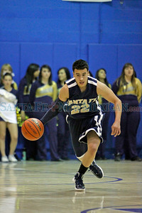 The first half of the St. Mike's vs Santa Fe High School basketball game at St. Michael's High School on Dec. 16, 2011.  Photo by Luis Sanchez Saturno/The New Mexican