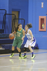 The second quarter of the St. Mike's vs Pecos girl's basketball game at St. Michael's High School on Thursday, December 27, 2012. Photo by Luis Sánchez Saturno/The New Mexican