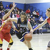 The first quarter of the St. Mike's vs Española girls basketball game on Saturday, December 29, 2012, at St. Mike's. Photo by Luis Sánchez Saturno/The New Mexican