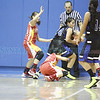 The second quarter of the St. Mike's vs Española girls basketball game on Saturday, December 29, 2012, at St. Mike's. Photo by Luis Sánchez Saturno/The New Mexican