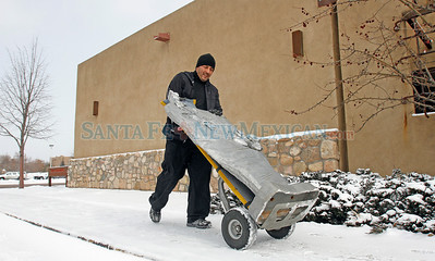 Snow day in Santa Fe, N.M., on Feb. 2, 2011. Natalie Guillén/The New Mexican