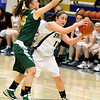 Prep basketball, District 2AAAA girls, Los Alamos at Santa Fe High on Wednesday, February 9. 2011.<br /> Santa Fe was up 9-7 at half-time.<br /> Photos by Jane Phillips/The New Mexican