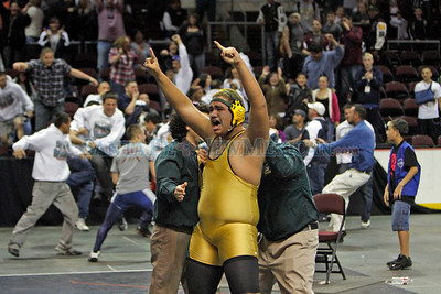 The State Wrestling Tournament at the Santa Ana Star Center on Feb. 19, 2011.  Photo by Luis Sánchez Saturno/The New Mexican