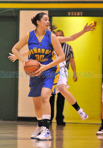 Mora High school Rangers -vs- Penasco High school Panthers girls basketball game played at Pecos High Louis G Sanchez Memorial Gymnasium Monday, February 20, 2012. Clyde Mueller/The New Mexican