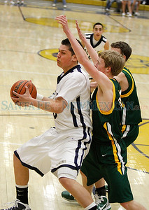 Santa Fe High vs Los Alamos at Toby Roybal Gymnasium on Tuesday, February 22, 2011. Photos by Jane Phillips/The New Mexican