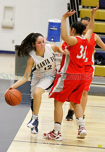 Santa Fe High girls basketball vs Bernalillo girls  at Toby Roybal Gymnasium on Tuesday, February 22, 2011. Photos by Jane Phillips/The New Mexican