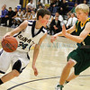 Santa Fe High vs Los Alamos at Toby Roybal Gymnasium on Tuesday, February 22, 2011.<br /> Photos by Jane Phillips/The New Mexican