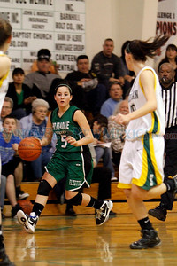 The first quarter of the Hope Christian High School vs Pojoaque Valley High School at Hope Christian on Feb. 23, 2011.  Photo by Luis Sánchez Saturno/The New Mexican