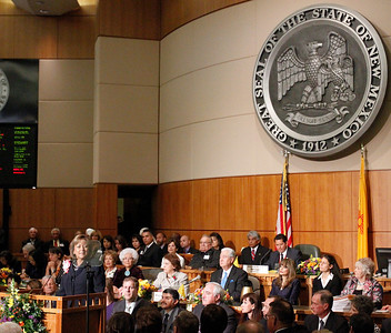 First day of the legislative session in Santa Fe, N.M., on Jan. 18, 2010.  Natalie Guillén/The New Mexica