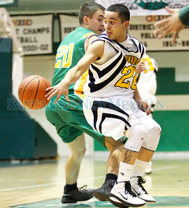Coronado boys basketball team vs. Pecos at the Ben Lujan Gym in Pojoaque, N.M. on Jan. 6, 2010. Natalie Guillén/The New Mexican