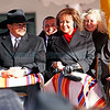 Susana Martinez is sworn in as New Mexico's first female Governor at the Plaza in Santa Fe, N.M., on Jan. 1, 2011. <br /> Natalie Guillén/The New Mexican