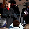 Susana Martinez smiles before addressing the crowd, right after she is sworn in as New Mexico's first female Governor at the Plaza in Santa Fe, N.M., on Jan. 1, 2011. <br /> Natalie Guillén/The New Mexican