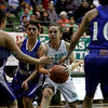 The first quarter of the Pojoque High School vs St Michael's High School at Pojoaque on Jan. 21, 2011.          Photos by Luis Sanchez Saturno/The New Mexican