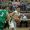 The first quarter of the Pecos vs Mora basketball game at Pojoaque High School on Jan. 7, 2012.<br /> <br /> Photo by Luis Sanchez Saturno/ The New Mexican