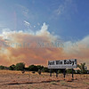 Smoke and fire approach Santa Clara Pueblo on June 30, 2011.<br /> Natalie Guillén/The New Mexican