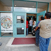 Santa Clara residents attend a meeting at the Senior Center on Santa Clara Pueblo regarding information about the Las Conchas fire moving towards them on June 30, 2011. <br /> Natalie Guillén/The New Mexican