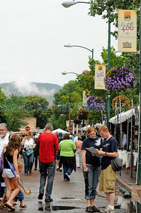 Clouds cover the Santa Fe Plaza during the 59th annual Spanish Market. Katharine Egli/The New Mexican