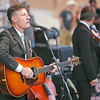 Lyle Lovett plays Paolo Soleri in what might be the lat show in the 50-year-old amphitheater on the Santa Fe Indian School campus on July 29, 2010.                   Luis Sanchez Saturno/ The New Mexican.