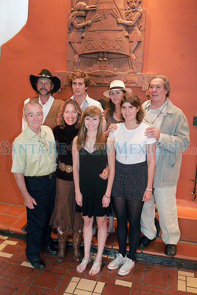 Members of the Tunstall and Garrett family pose for a photograph together at the La Fonda on Thursday, July 29, 2010.  <br /> Photos by Jane Phillips/The New Mexican