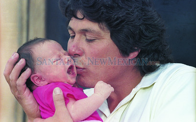 June 18, 1992 New Mexican file photo by Laura Husar.  A follow-up 1992 father's day story that revisits a father and daughter interviewed in The New Mexican 21 years ago. Joe Ayala and his 11-day-old daughter Kate were profiled in the 1992 Father's Day paper.