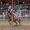 Kelsi Elkins of Aztec, NM competed in the Barrel Racing during the final day of Rodeo de Santa Fe on Saturday, June 26, 2010.<br /> Photos by Jane Phillips/The New Mexican