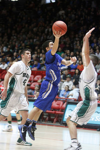 The third quarter of the St. Mike's vs Hope Christian on March 10, 2012, at the Pit in Albuquerque.  Photo by Luis Sanchez Saturno/The New Mexican