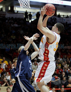 Española vs. Goddard High School during the state boys basketball championship game at the Pit in Albuquerque, N.M. on Mar. 12, 2011. Natalie Guillén/The New Mexican