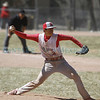 Monte Del Sol's pitcher Denis Mares, number 3, pitches during the Monte Del Sol High School vs Questa High School baseball game at Ft. Marcy Park on Saturday March 30, 2013. Photo by Luis Sánchez Saturno/The New Mexican