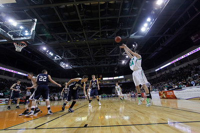 The second quarter of the Mora vs Santa Fe Prep at the Santa Ana Star Center in Rio Rancho during the Basketball State Championship on Mar. 7, 2012.  Photo by Luis Sanchez Saturno/The New Mexican