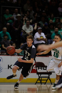 The third quarter of the Mora vs Santa Fe Prep at the Santa Ana Star Center in Rio Rancho during the Basketball State Championship on Mar. 7, 2012.  Photo by Luis Sanchez Saturno/The New Mexican