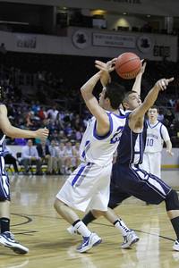 The first quarter of the Silver vs St. Mike's at the Santa Ana Star Center in Rio Rancho during the Basketball State Championship on Mar. 7, 2012.  Photo by Luis Sanchez Saturno/The New Mexican