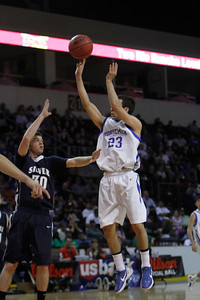 The second quarter of the Silver vs St. Mike's at the Santa Ana Star Center in Rio Rancho during the Basketball State Championship on Mar. 7, 2012.  Photo by Luis Sanchez Saturno/The New Mexican