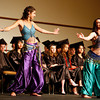 (L-R) Desirey Guranich (cq) and Brittany Breedlove bellydance during their graduation ceremony for Monte del Sol, held at the convention center in Santa Fe, N.M.,  on May 19, 2010, in Santa Fe, N.M..<br /> Natalie Guillén/The New Mexican
