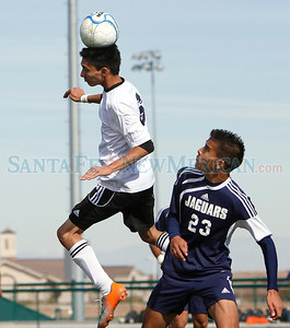 Capital loses to Atrisco, 1-3, during a boys soccer game at the New Mexico state soccer tournament in Albuquerque, N.M. on Nov. 3, 2011.  Natalie Guillén/The New Mexican
