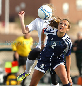 Santa Fe Prep lost to Taos High School, 0-1, in a girls soccer game at the New Mexico state soccer tournament in Albuquerque, N.M. on Nov. 4, 2011.  Natalie Guillén/The New Mexican