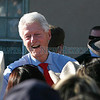 Bill Clinton visits with the crowd after he campaigned for Daine Denish at the Espanola plaza on Thursday, October 14, 2010. Thousands of people showed up to see him and support Denish.<br /> Photos by Jane Phillips/The New Mexican