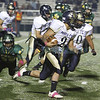 The second half of the Los Alamos High School vs Santa Fe High School football game on Friday, October 19, 2012, at Los Alamos. Photo by Luis Sánchez Saturno/The New Mexican