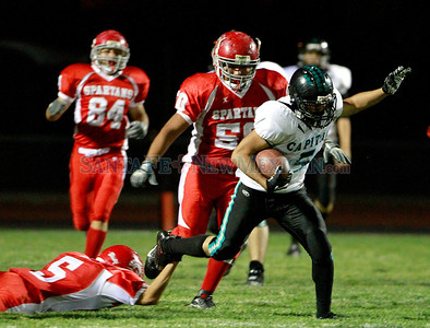 Prep football: District 2AAAA, Capital at Bernalillo on Friday, October 21, 2011. At haf-time Bernalillo Spartans was up 27-0. Photos by Jane Phillips/The New Mexian