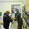 Monks and volunteers from the Abiquiu Christ in the Desert Monastery help as their beer is bottled at the Sierra Blanca/Rio Grande brewery in Moriarty Wednesday October 19, 2011. <br /> Clyde Mueller/The New Mexican