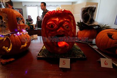 La Fond pumpkin judging on October 30, 2013. Luis Sanchez Saturno/The New Mexican