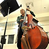 Santa Fe Community Orchestra member Lenny Tischler plays the Bass during rehearsal.<br /> Clyde Mueller/The New Mexican