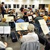 Santa Fe Community Orchestra, rehearsal led by Oliver Prezant, Music Director.<br /> Clyde Mueller/The New Mexican