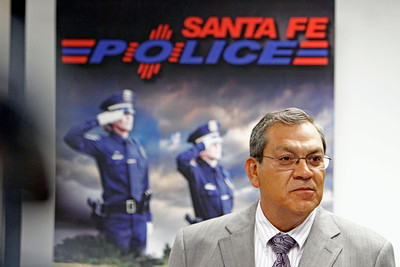 Santa Fe Police Department Chief Raymond Rael announces during a press conference on Sep. 16, 2011, that the DNA test determined that Robert Terrezas is not the missing Robbie Romero.   Photo by Luis Sánchez Saturno/The New Mexican