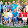 Family photo taken in the Rose Garder by Fuller Lodge in Los Alamos, New Mexico, Friday, July 16, 2010.<br /> Front Row (l to r)<br /> Patricia Leibman, Jean Carter, Fran Nelson, Sue Carter and Nancy Galyon<br /> Back Row (l to r)<br /> Tom Carter, Don Carter, Chris Carter, Robert Carter, Mike Carter, Bill Carter and Jeff Carter. <br /> Clyde Mueller/The New Mexican<br /> <br /> Clyde Mueller/The New Mexican