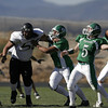 Prep football: Raton at Pojoaque Valley<br /> Budget Story:  Prep football: District 2AAA, Raton at Pojoaque Valley. The Elks are 6-1, but they face their truest test against the Tigers, the No. 2 team in the state.<br /> Jacona Field, Pojoaque Valley High<br /> Photos by Jane Phillips/The New Mexican