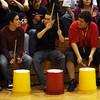 Espa–ola high school vs. Albuquerque high school, boys basketball game in Espa–ola, N.M. on Jan 16, 2010. <br /> Natalie GuillŽn/The New Mexican