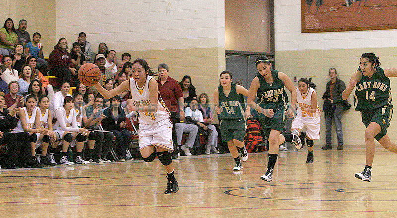Santa Fe Indian School vs West Las Vegas at Francis L Abeyta Memorial Gymnasium on Friday, Feb. 5, 2010.<br /> Photos by Jane Phillips/The New Mexican