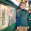 "Jack Nation, a 5-year-old Santa Fe kindergartner at El Dorado Community School has a major supporting part in the NM-shot Oscar-nominated film ""Crazy Heart"", is photographed at the inside entrance to Pasqual's restaurant where he was spotted by the films producer, Judy Cairo.<br /> Clyde Mueller/The New Mexican"
